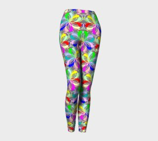 Pastel Floral Doodle All Over Print leggings  preview