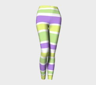 Aperçu de Bright Green Yellow Purple Stripes