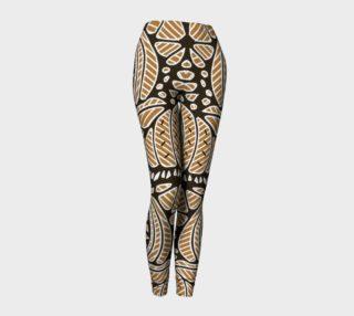 Khaki Geometric Pattern Women's Leggings  preview
