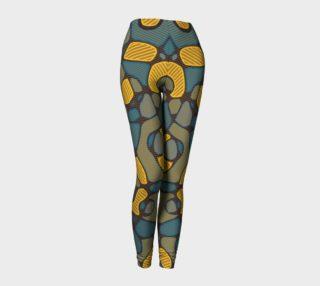 Yellow Grey Stripes Pattern Women's Leggings  preview
