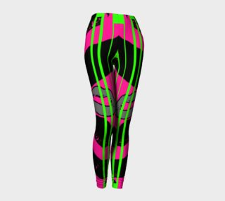 Lime Green Pink Women's Leggings  preview
