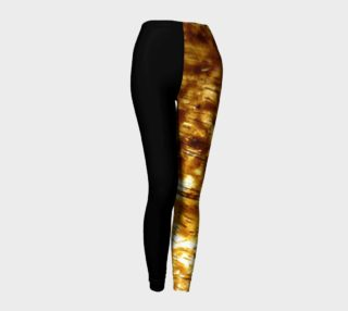 Black and Gold Leggings preview