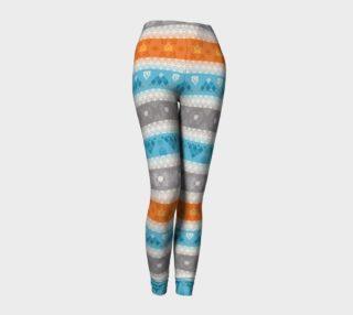 Tribal Soft Gray Stripes Leggings preview