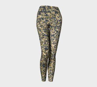 Aperçu de Geometric Dark Borwn Camouflage Leggings