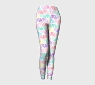 Triangles Pastel Color Leggings preview
