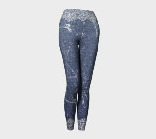 Denim Jeans with Lace Leggings preview