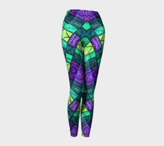 Nouveau Garden Stained Glass Leggings III preview
