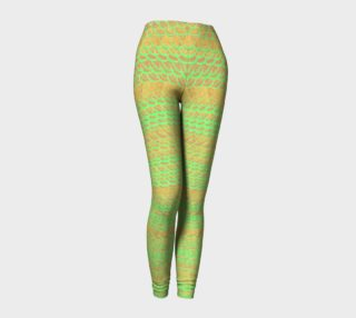 Abstract Green and Gold Scales Leggings preview