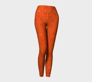 Golden Orange Emblems Leggings preview