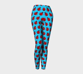 Ladybugs Pattern-Blue Leggings preview