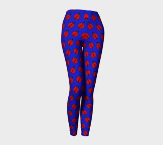 Ladybugs Pattern-Dark Blue Leggings preview