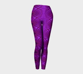Atomic Age Abstract Purple Leggings preview