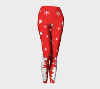 Aperçu de Merry Christmas Winter Snowflakes Leggings