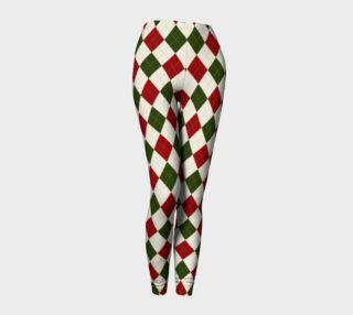 Christmas Argyle Leggings preview