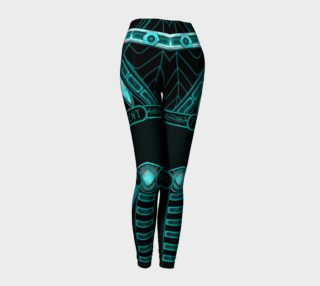 Blue Cyberpunk Android Leggings preview