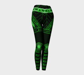 Cyberpunk Android Green Leggings preview