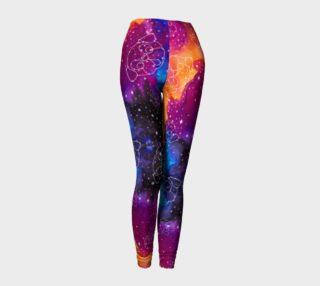 Aperçu de Pug Constellations Pink Purple Orange Leggings