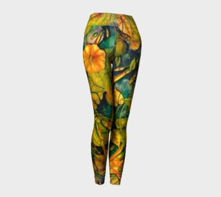leggings orange flowers preview