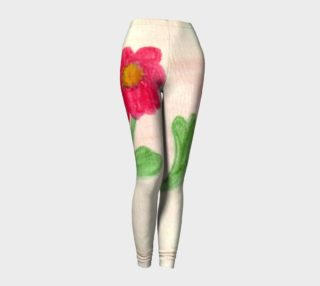 Red Daisy Leggings preview