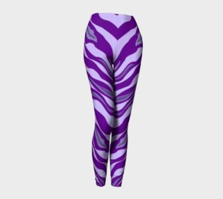 Aperçu de Tiger Print Leggings Purple
