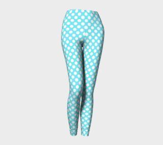 Polka Dots Pattern-Blue Leggings preview