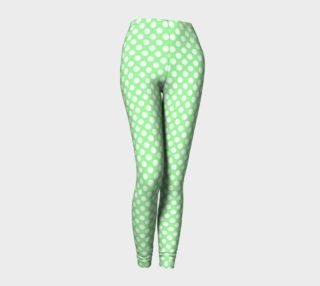 Polka Dots Pattern-Green Leggings preview