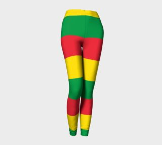 Rasta Colors Green Yellow Red Stripes Pattern preview