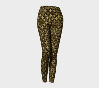 Gold Fleur-de-Lis Symbols Pattern on Black preview