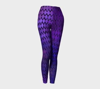 Aperçu de Purple Dragon Scales Leggings