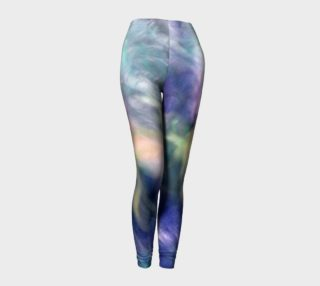 Falling Petal Abstract - PURPLE YELLOW GREEN A Leggings by Heather J Kirk preview