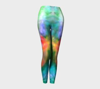 Falling Petal Abstract - Blue-Green- Pink A Leggings by Heather J Kirk preview