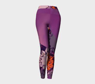 Paris Geo Floral / Purple Pixie Dust Leggings preview