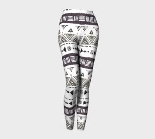 Aperçu de Native American Ornaments Nature Watercolor Pattern leggings