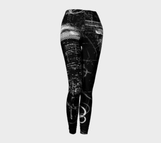Black and White Grunge Leggings preview