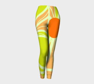 Aperçu de Abstract Leggings Lime Green and Peach