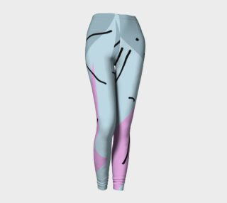 Abstract Pink Splash Leggings preview