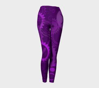 Purple Steampunk Gears Leggings preview