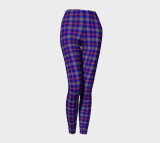 Blue, Grey, and Purple Plaid Leggings preview