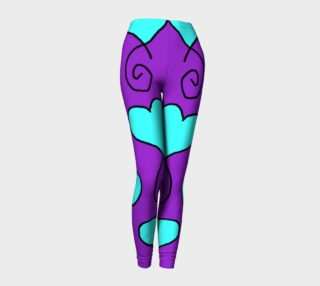 Sue 6 purple and blue hearts leggings preview