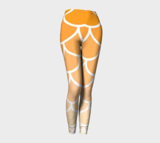 Orange Scales large lizard leggings preview