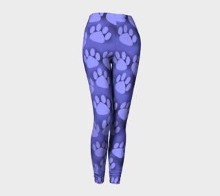 Purple Paw Prints cat dog pet leggings preview