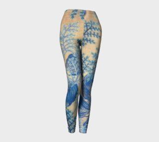 1950s Blue Ferns leggings preview
