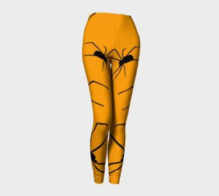 Scary Long Legged Spiders Halloween leggings preview