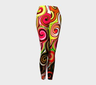 Swirl Me Pretty Colorful Leggings preview
