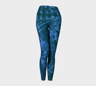 Abstract flight of the blue bird leggings preview
