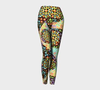 Aperçu de Filigree Floral Patchwork Ankle Leggings