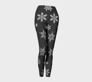 Snow Flurries Leggings-Solid Charcoal preview