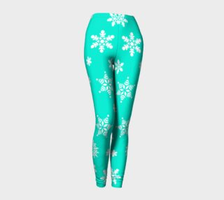 Snow Flurries Leggings-Frosty Blue preview