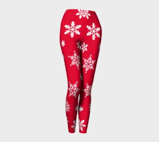 Snow Flurries Leggings-Christmassy Red preview