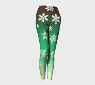 Snow Flurries Leggings-Green Ombre preview